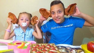 ЧЕЛЛЕНДЖ Обычная еда против МАРМЕЛАДА Gummy FOOD vs Real FOOD Ghallenge