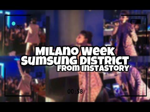 Lodovica's InstaStories from Milano Music Week - Samsung District (25.11.2017)