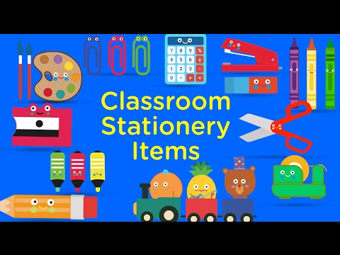 15 stationery names for kids to learn | Kids learning song