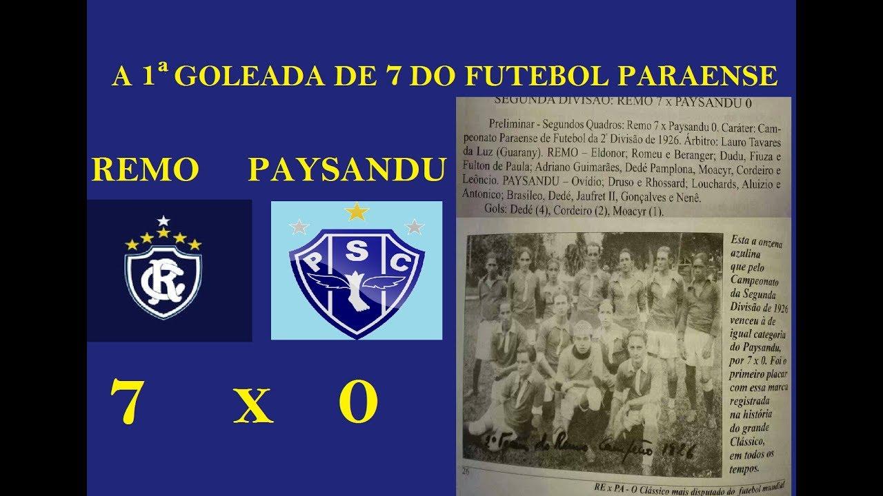 987228b1fa REMO 7X0 Paysandu... A primeira goleada de 7 da história do futebol paraense