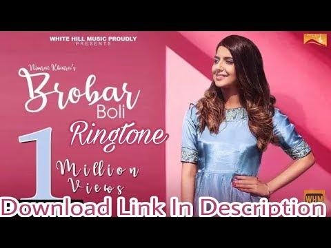 Brobar Boli Song Ringtone   DOWNLOAD LINK IN DESCRIPTION   Nimrat Khaira  