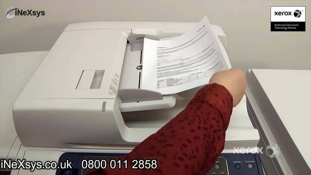 How to Use Workflow Scanning - Xerox Work Centre 7200/7220/7220i/7225/7225i