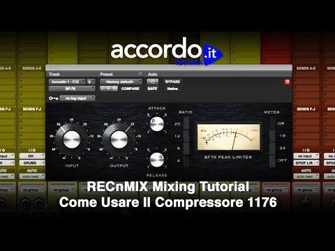 RECnMIX Mixing tutorial - Come usare il compressore 1176