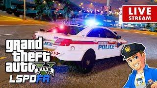GTA 5 LSPDFR Rainy Night LIVE | GTA 5 LSPDFR Police Mod Realistic Police Patrol | FPIS ELS