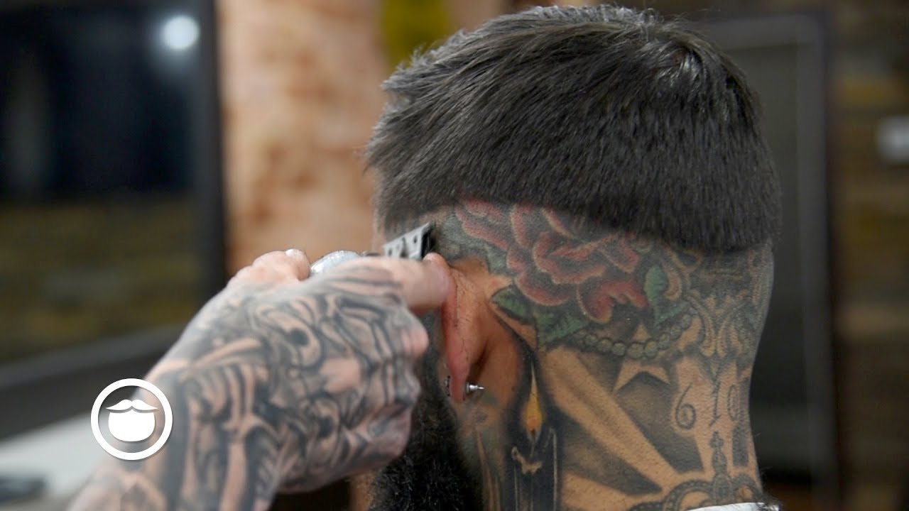 8cb451a1f Dope Fade with Sick Tattoos & Sharp Beard Trim - YouTube