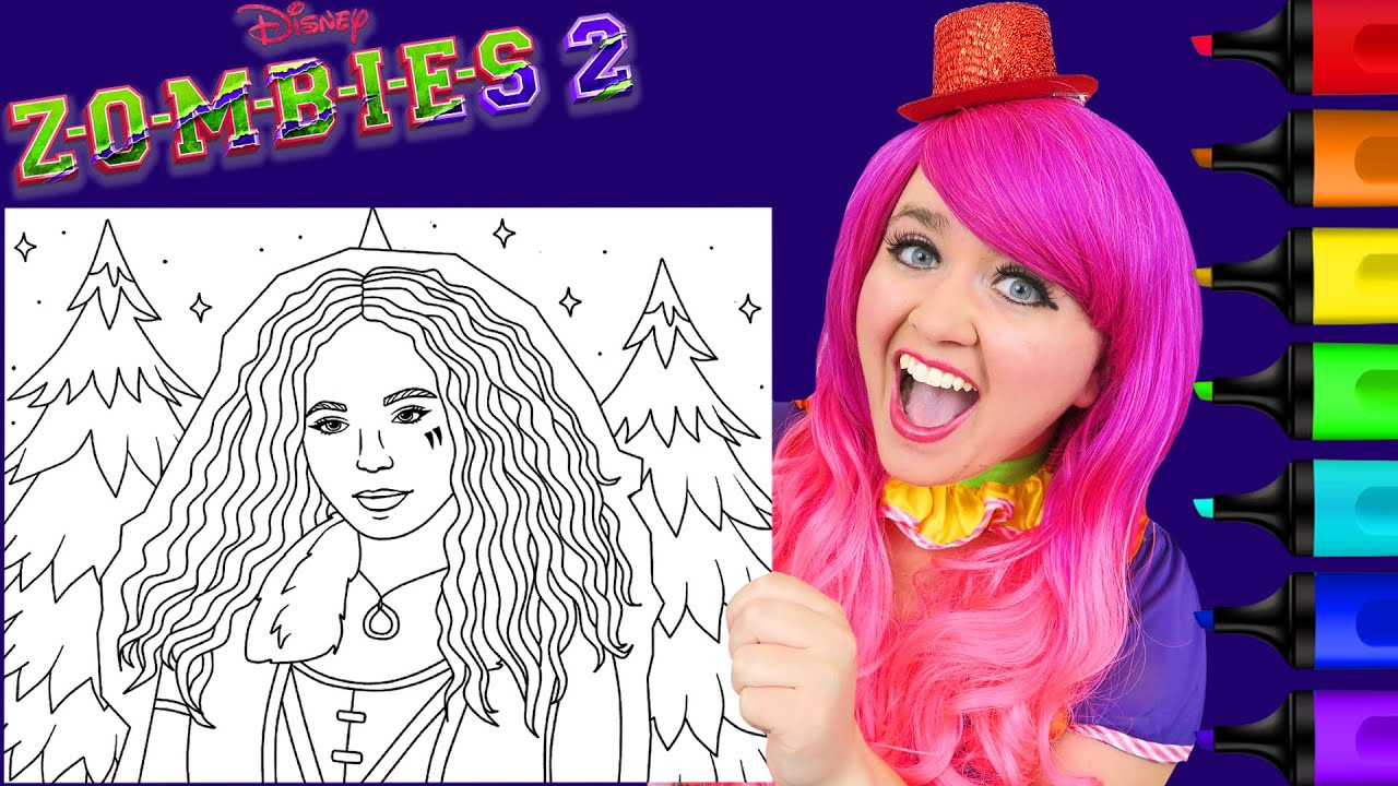 Coloring Willa The Werewolf Zombies 16 Disney Coloring Page Prismacolor  Markers  KiMMi THE CLOWN