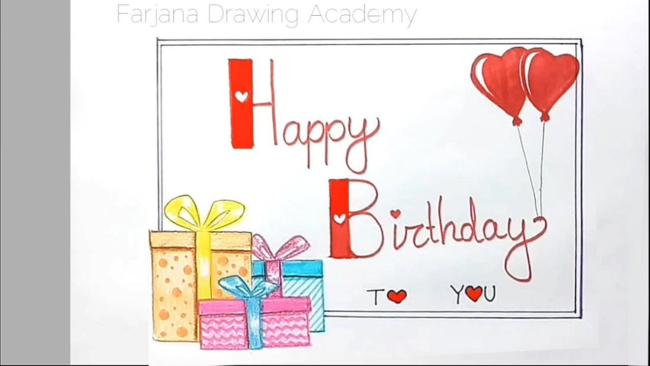 How To Draw Happy Birthday For Wishes Step By