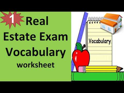 Real Estate Exam Vocabulary worksheet - Real Estate Glossary Part 1 ...