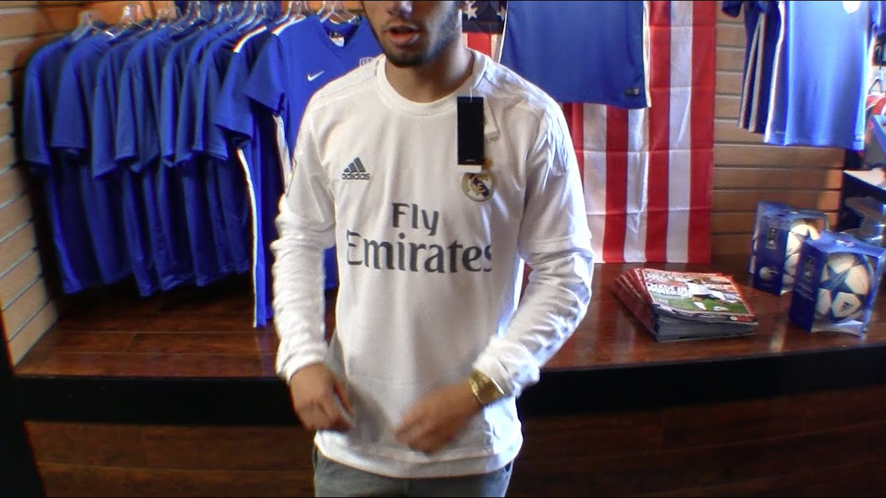 e36733da4 Real Madrid 15 16 Long Sleeve Home Jersey Review - YouTube
