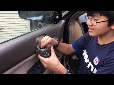 How To Remove Replace Interior Car Door Handle Honda Accord 7th Gen 2003 2007 Diy Auto Repair Youtube