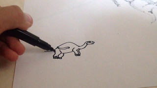 How to Draw a Kentrosaurus