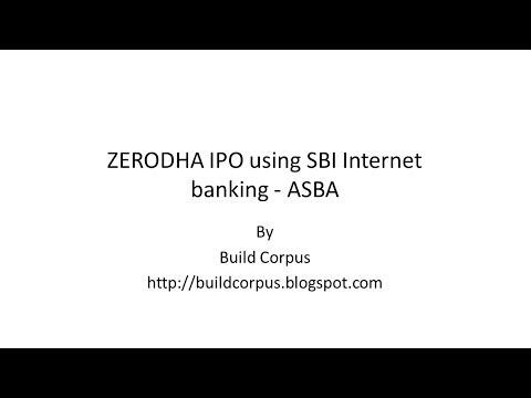 ZERODHA IPO using SBI Internet Banking - ASBA