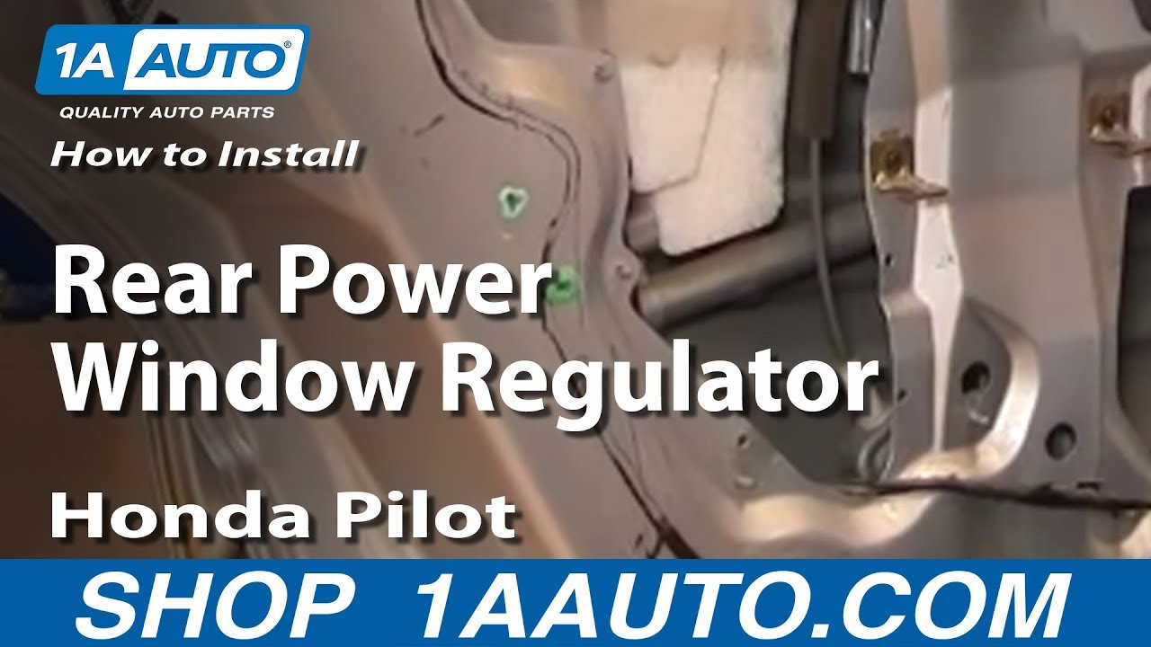 how to install replace rear power window regulator 2003 08 honda pilot [ 1280 x 720 Pixel ]