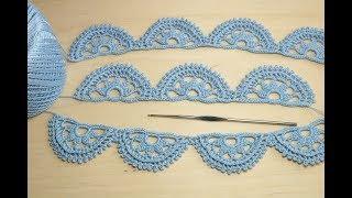 ЛЕНТОЧНОЕ КРУЖЕВО вязание крючком Crochet Lace Braid Ribbon Tape Tutorial