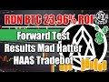 RDN BTC 23.96% ROI Forward Test Results Mad Hatter Tradebot using FOI Auto Tuner
