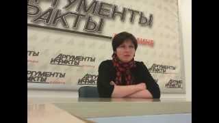 Диетолог Светлана Фус в гостях у АиФ.ua