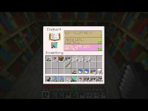 Minecraft 1.0 - Level 50 Enchant #6 - Diamond Sword - YouTube