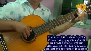 Hướng dẫn cơ bản guitar cổ điển_tay phải (móc dây)
