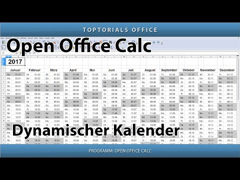 Dynamischen Kalender Erstellen + Download (OpenOffice Calc)