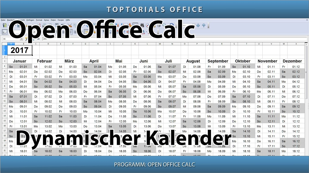 Dynamischen kalender erstellen download openoffice calc - Download open office calc for windows ...