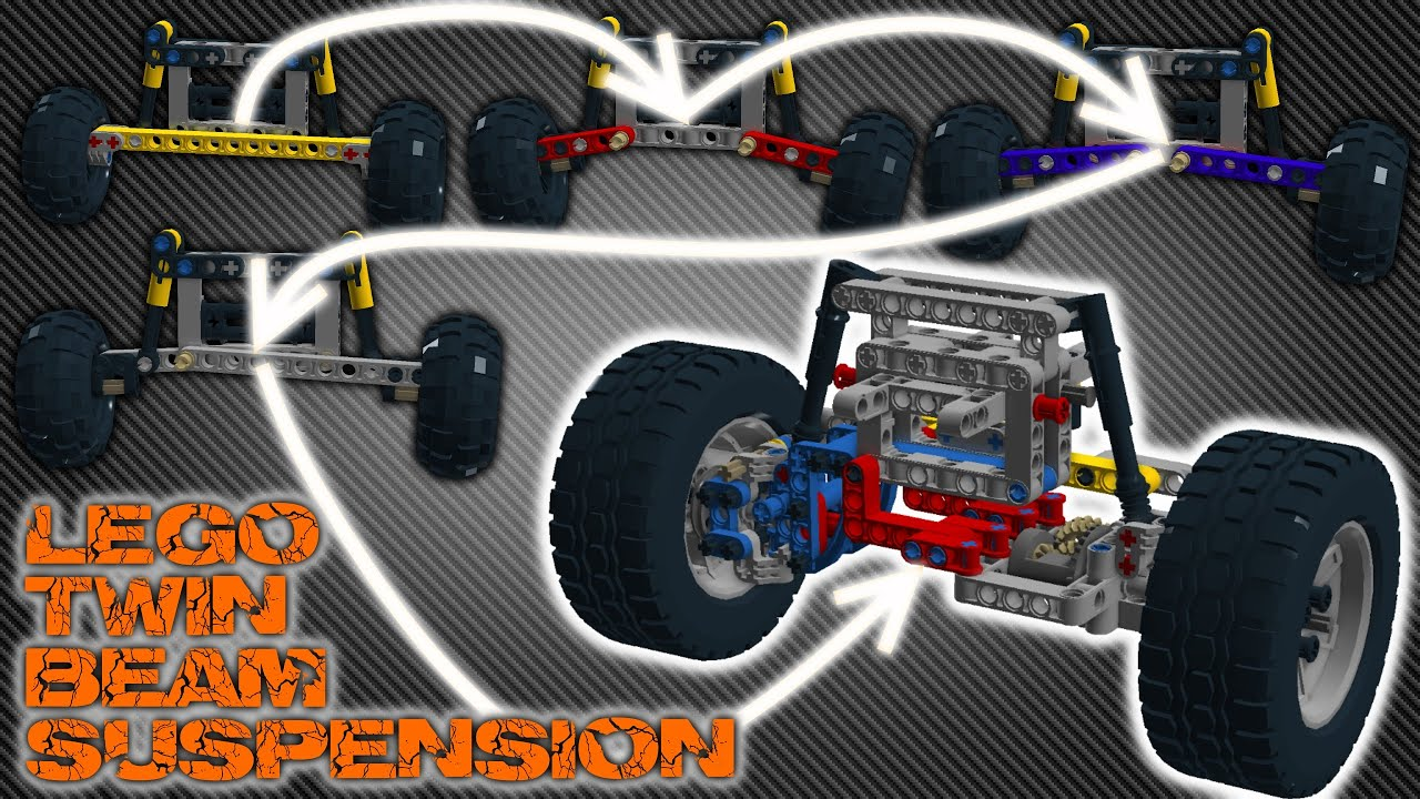 Air Bags Suspension >> Driven and steered twin beam suspension made in Lego - YouTube