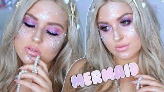 Pretty Mermaid Tutorial! ♡ Easy Halloween Makeup! Sparkles & Scales