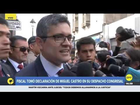 """José Domingo Pérez tomó declaración de Miguel Castro: Fue """"pertinente y útil para la investigación"""""""