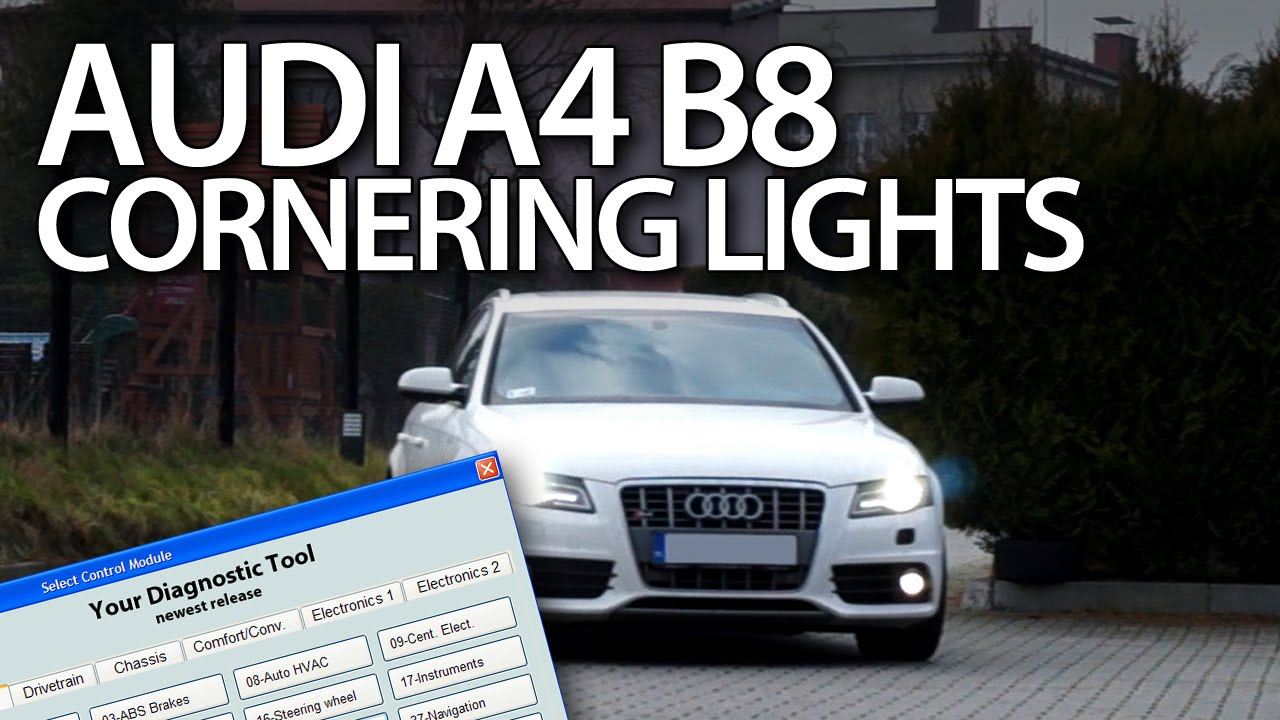 how to enable cornering lights in audi a4 b8 2008 2015. Black Bedroom Furniture Sets. Home Design Ideas