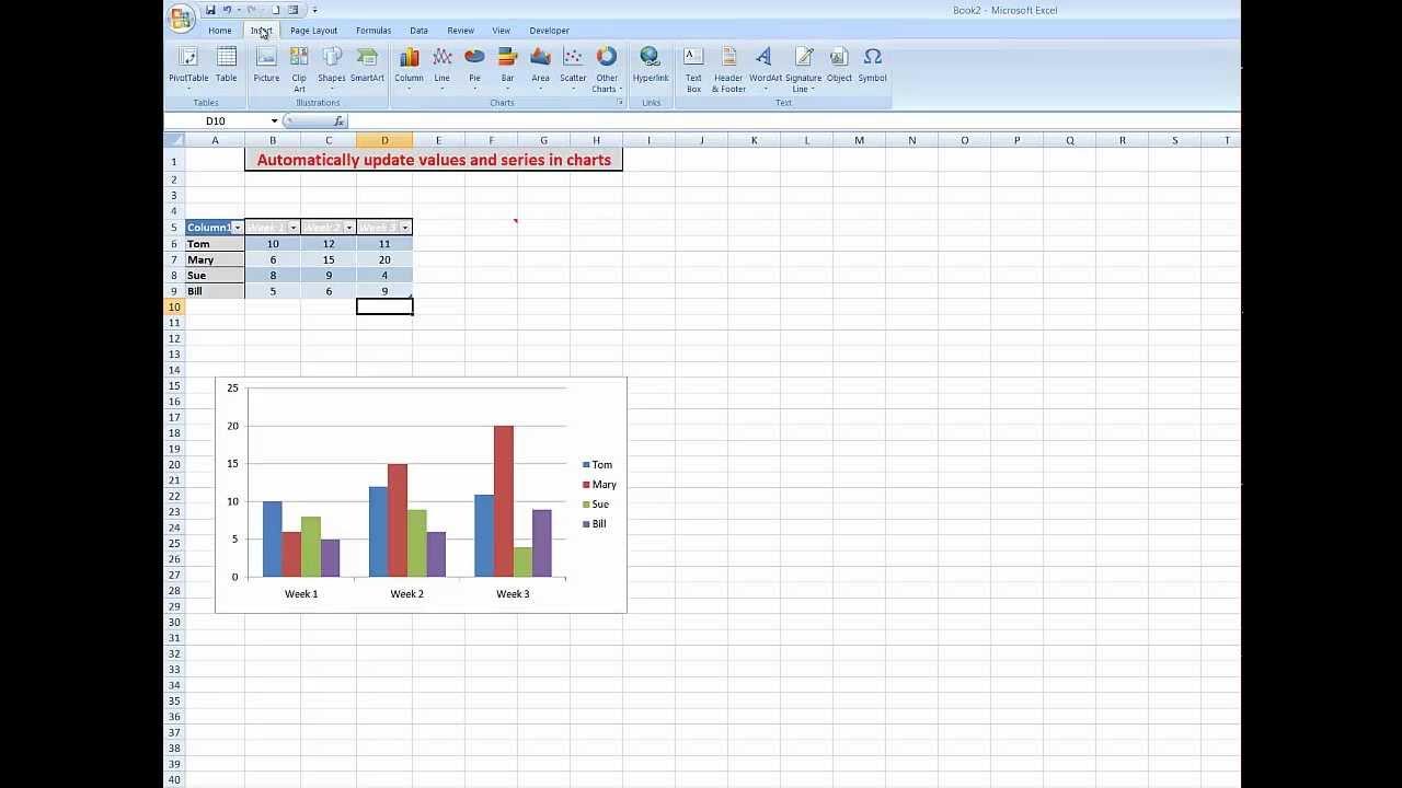 excel vba update chart range change chart data range using a drop down list vba get digital. Black Bedroom Furniture Sets. Home Design Ideas