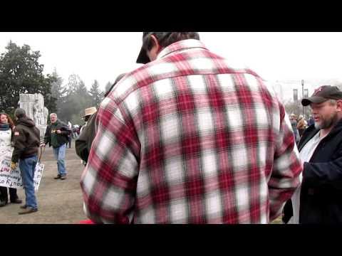 The walk in Salem Oregon, 2nd Amendment supporters.