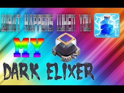 WHAT HAPPENS WHEN YOU LIGHTNING SPELL PEOPLES DARK ELIXER STORAGE(CLASH OF CLANS)