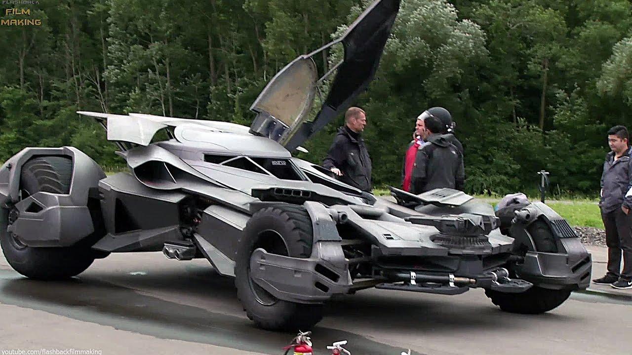 Batmobile 'Batman v Superman' Behind The Scenes ...