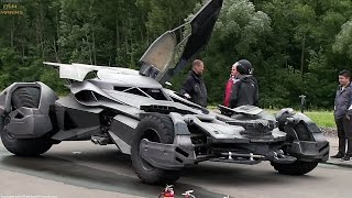 Batmobile 'Batman v Superman' Behind The Scenes [+Subtitles]