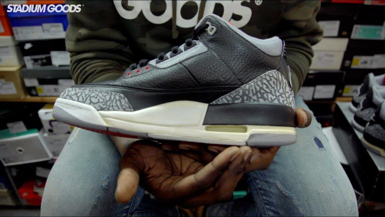 on sale 2eaa6 cfac9 Air Jordan 3 Black Cement 2001 vs 2011