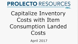 Capitalize NetSuite Inventory with Item Consumption Landed Costs