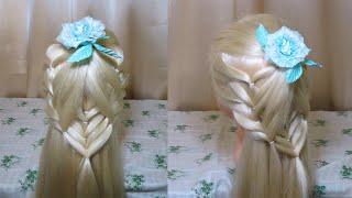 Very light hairstyle for every day Очень легкая прическа на каждый день 8