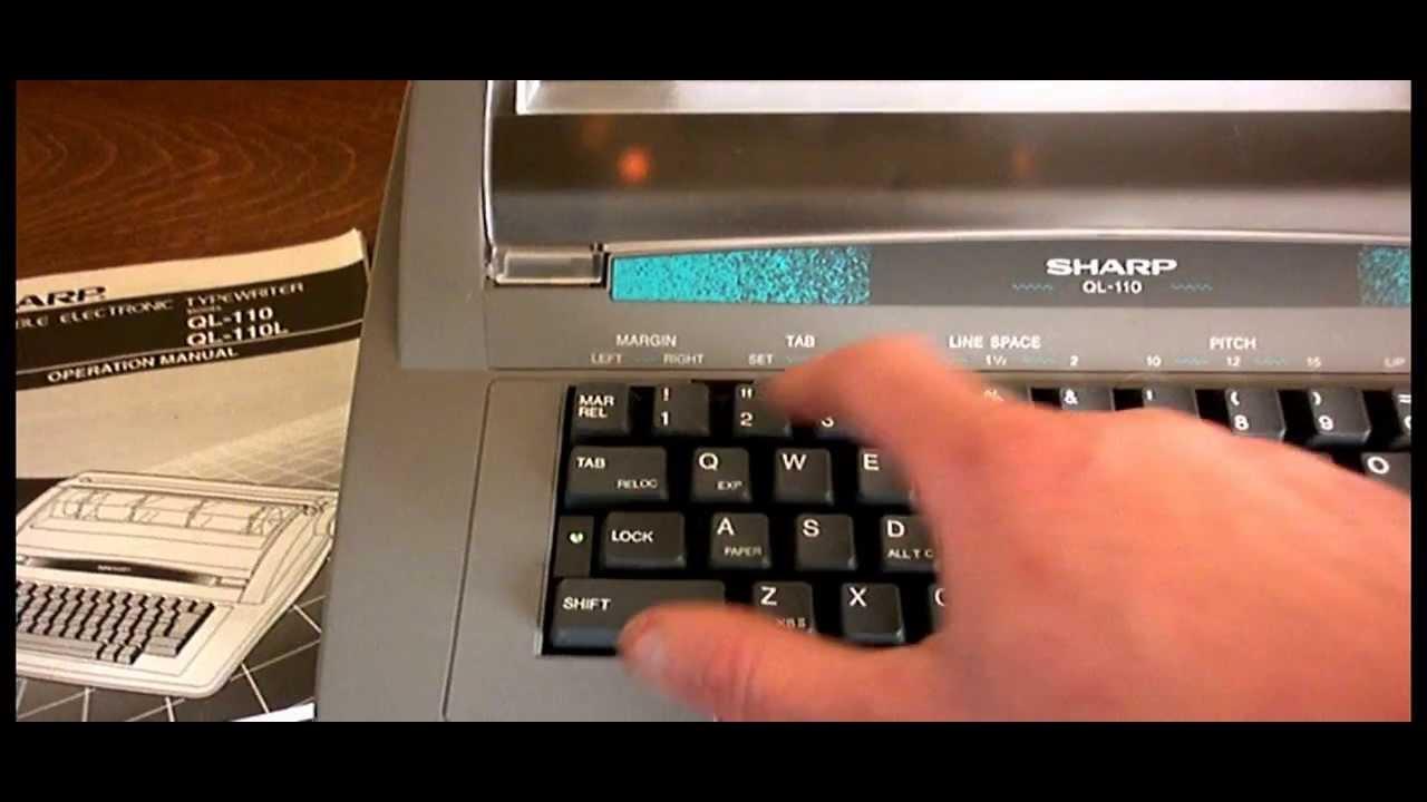 sharp ql 110 portable electronic word processor typewriter with user rh youtube com Electric Typewriter sharp pa 3100 typewriter manual