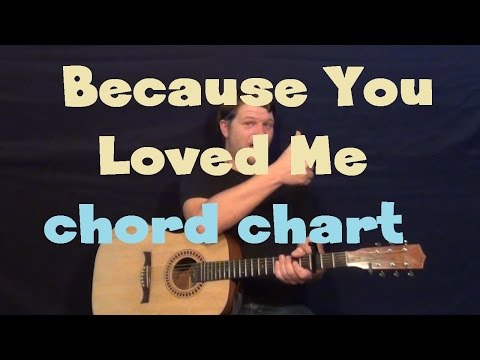 Because You Loved Me (Celine Dion) Guitar Chord Chart - Capo 1st Fret - Acoustic Instrumental