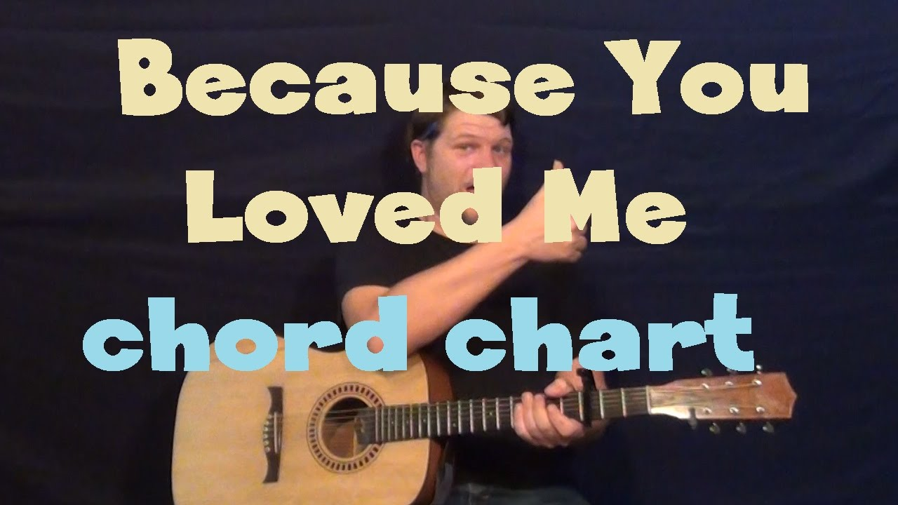 Because You Loved Me Celine Dion Guitar Chord Chart Capo 1st