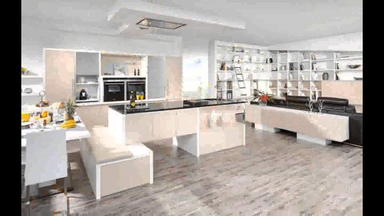 Kche Und Wohnzimmer in Einem - design - YouTube