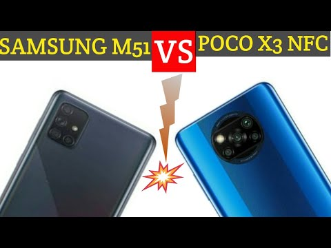 Samsung M51 vs Poco X3 NFC: Specification,features and Price comparison