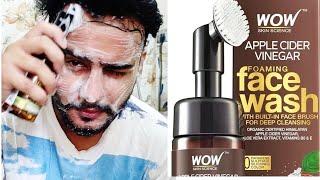 Wow Apple Cider Vinegar Foaming Facewash | 11 days Usage | Unisex Facewash Honest Review | Mr Bagga