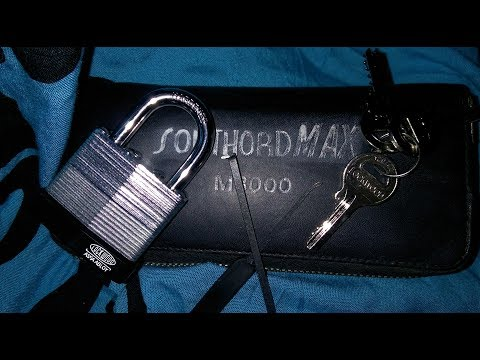 Взлом отмычками ASSA   Lock Picking Lockwood ASSA ABLOY 40mm Laminated Padlock