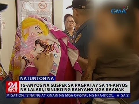 15-anyos na suspek sa pagpatay sa 14-anyos na lalaki, isinuko ng kanyang mga kaanak
