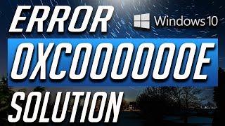 How to Fix Error Code 0xc000000e in Windows 10