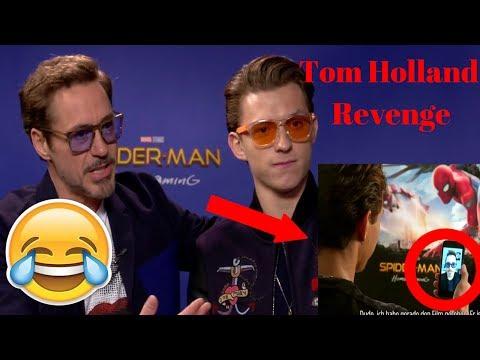 Tom Holland takes Revenge on Robert Downey Jr. - Try Not to Laugh - 2017