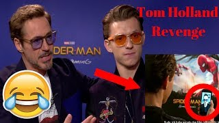 Tom Holland takes Revenge on Robert Downey Jr. - Try Not to Laugh - 2017