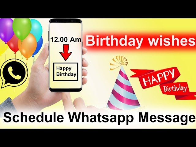 How To Schedule Whatsapp Message | Whatsapp tips Tamil