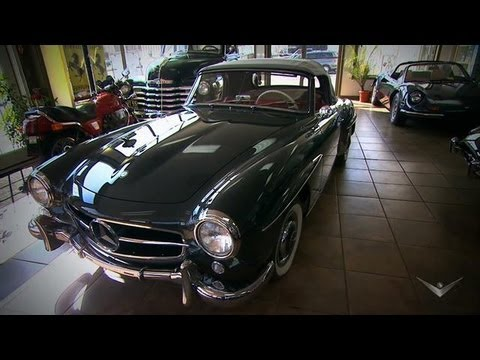 Concours D Elegance >> 1955 Mercedes 190SL | Chasing Classic Cars - YouTube