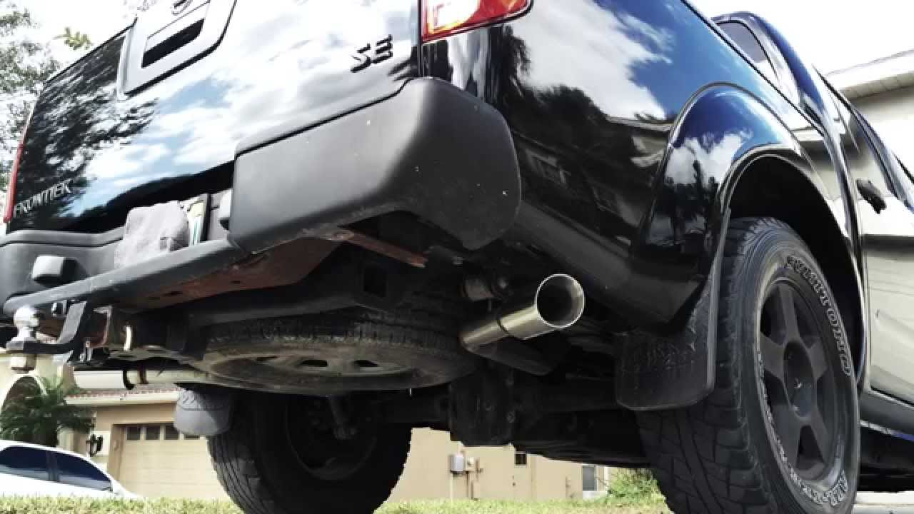 06 Nissan Frontier Dual Exhaust With A Flowmaster Super 50 Muffler